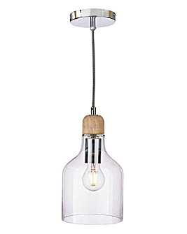 Vaso Glass Fitted Pendant