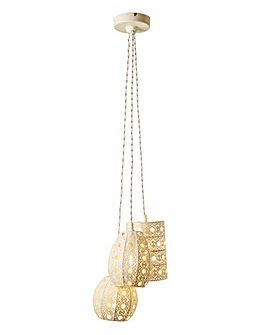 Sahara Cream 3 Light Drop Ceiling Light