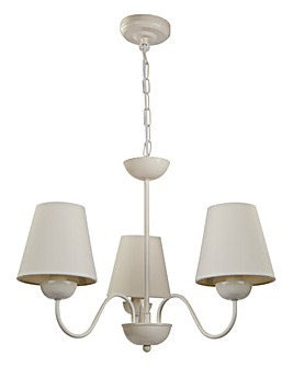 Charleston Cream 3 light Ceiling Light