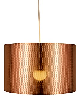 Copper Octagon Texture Pendant Shade
