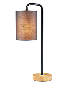 Eden Wooden Base Table Lamp Grey