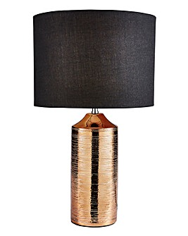 Gold Ceramic Etched Table Lamp