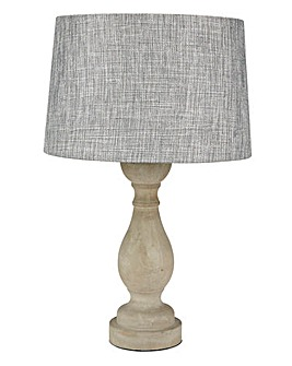 Oxford Concrete Turned Table Lamp