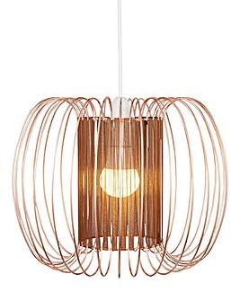 Copper Ribbon & Wire Pendant