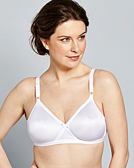 4 Pack Claire Non Wired White Bras