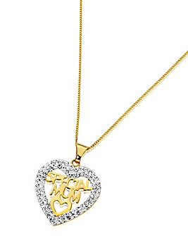 Crystal Glitz Open Heart Pendant
