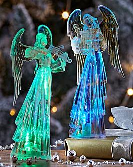 Set of 2 Light-Up LED Angels.
