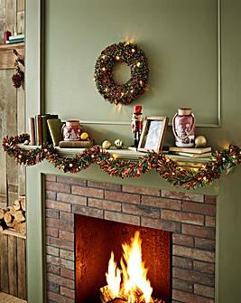 LED Tinsel and Wreath Set