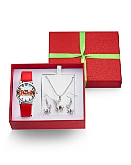 Christmas Watch & Jewellery Set