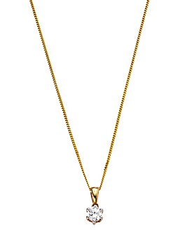 9 Carat Gold 1/4 Carat Diamond Pendant