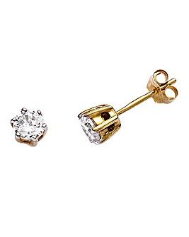 9 Carat Gold 1/2 Carat Diamond Earrings