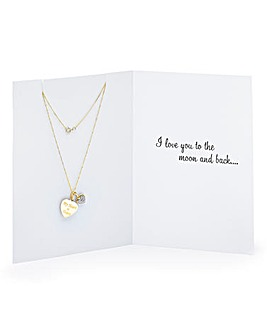 Greetings Card with Personalised Pendant