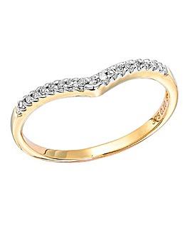 9 Carat Yellow Gold Wishbone Ring