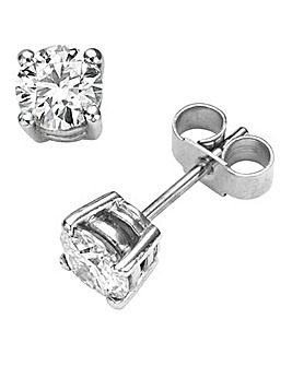Moissanite Solitaire Stud Earrings
