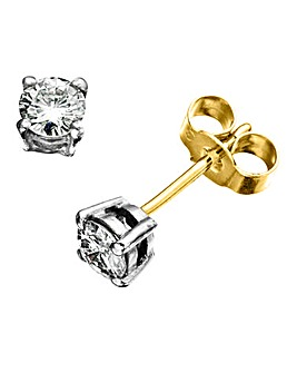 Moissanite 9 Carat Gold 1/2 Ct Earrings
