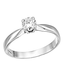 Moissanite 9 Carat Gold Solitaire Ring