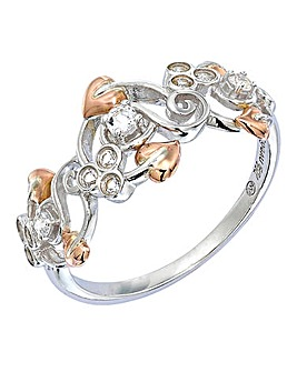 Clogau Silver and 9 Carat Gold Ring
