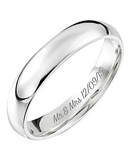 Personalised Silver Ladies Band