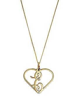 9 Carat Gold Monogram Initial Pendant