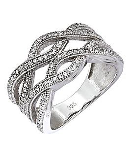 Cubic Zirconia Weave Ring