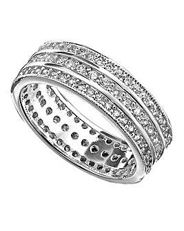 Cubic Zirconia Eternity Band Ring