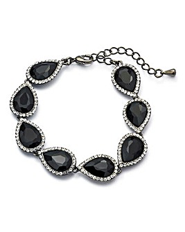 Black Glitzy Drop Bracelet