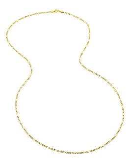 9 Carat Gold 24inch Figaro Chain