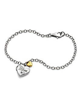 Personalised Silver Love Locket Bracelet