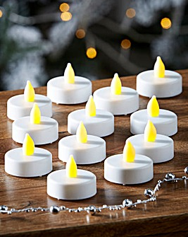 Set of 12 Flickering LED Tea Lights