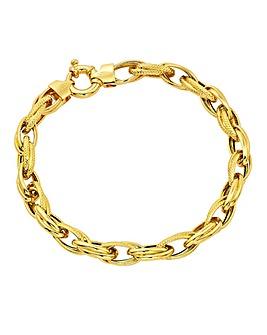 9 Carat Gold Chunky Ladies Bracelet