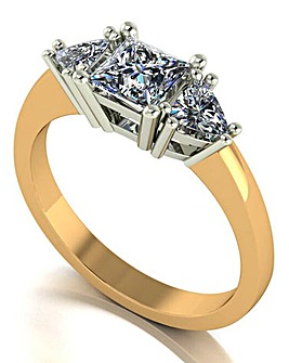 9 Carat Gold 1.20 Carat Moissanite Ring