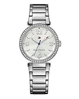 Tommy Hilfiger Ladies Silver Tone Watch