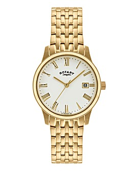 Rotary Gents Gold-plated Bracelet Watch