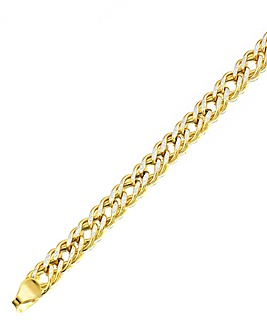 9 Carat Gold Diamond Cut Curb Bracelet