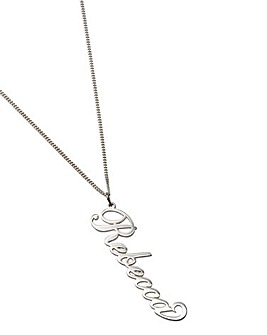 Personalised 18 Inch Silver Necklace