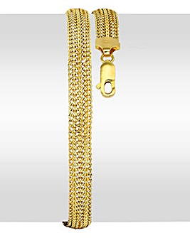 9 Carat Gold Slinky Domed Chain