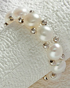 Pearl Stretch Ring Pack of 2
