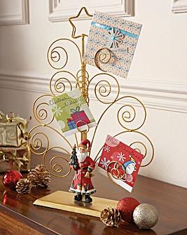 Freestanding Santa Card Holder