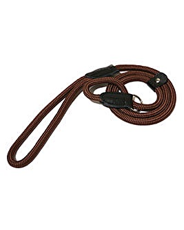 "Rope Twist Slip Lead 64"" Brown"