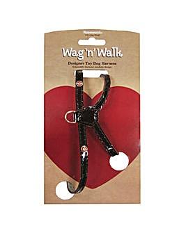 Wag N Walk Oxblood Harness XSmall