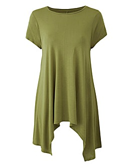 Light Khaki Hanky Hem Top