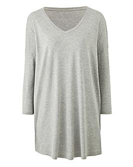Grey Marl V-Neck Slouch Tunic