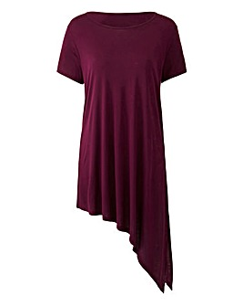 Damson Short Sleeve Asymmetric Tunic