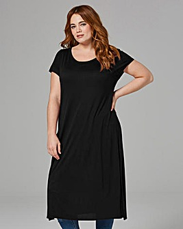 Black Side Split Tunic