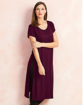 Damson Side Split Tunic
