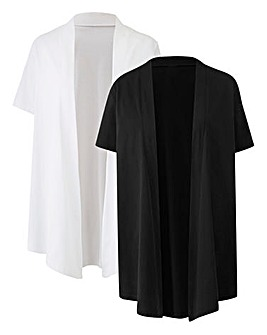 White/Black Pack of 2 Kimono Cover Ups