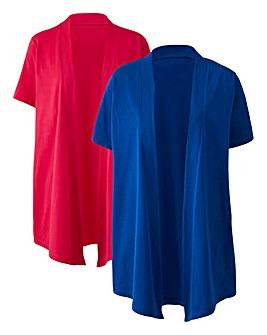 Cobalt/Pink Pack 2 Kimonos Cover Ups