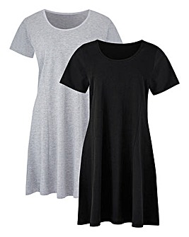 Black/Grey Pack 2 Swing Tunics
