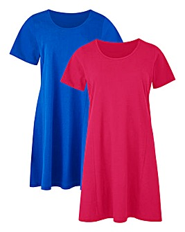 Cobalt/Pink Pack 2 Swing Tunics