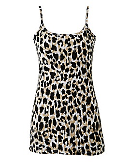 Black Animal Stretch Camisole